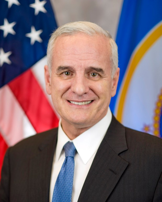 Undated courtesy photo, circa Jan. 2017, of Minnesota Gov. Mark Dayton, Minnesota's 40th Governor. This is his official portrait. Photo courtesy of the Office of Governor Mark Dayton and Lt. Governor Tina Smith.