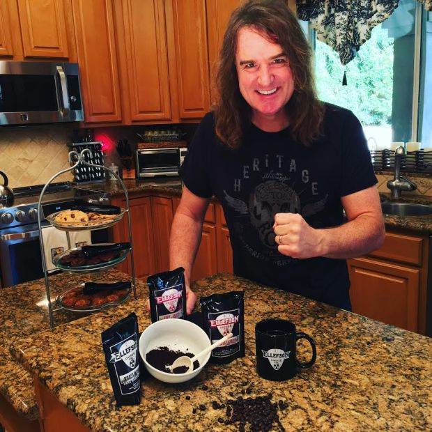 Megadeth bassist David Ellefson has opened a coffee shop, Ellefson Coffee Co., in his hometown of Jackson, Minn. (Courtesy of David Ellefson)