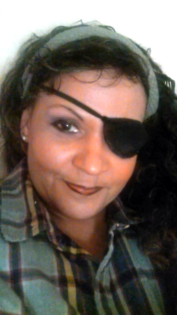 """Undated courtesy photo, circa Jan. 2017, of Beverly Flowers. Jaffort Smith shot Beverly """"Angel"""" Flowers, who he was in a relationship with, in the right side of her cheek and the bullet exploded out her left eye on May 9, 2016. Smith was fatally shot by St. Paul police officers. Flowers underwent five surgeries to put the left side of her face back together. Doctors tried to save her eye, but they could not and it was removed in October. (Courtesy photo)"""