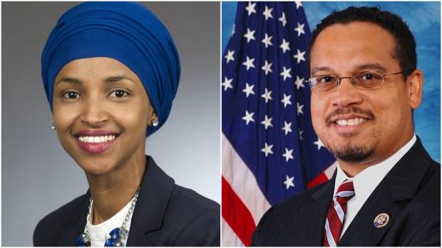 Minnesota Rep. Ilhan Omar and U.S. Rep. Keith Ellison