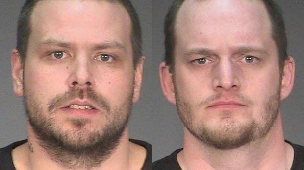 Adam James Krimpelbein, left, and Dustin Jeffery Arthur Heichert