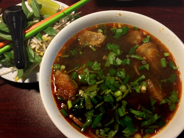 Jan. 2107 photo of Pho with pork belly at Eastside Thai in St. Paul. (Pioneer Press: Nancy Ngo)