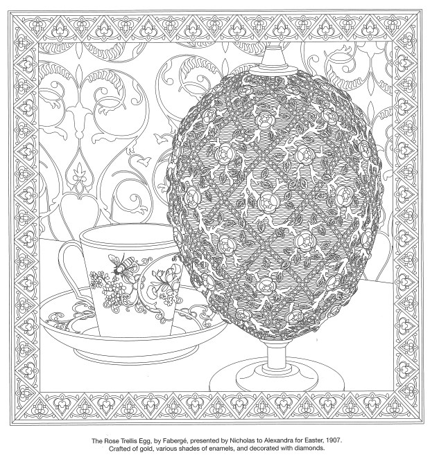"Author R.D. Zimmerman and artist Christopher Bohnet partnered on an adult coloring book ""Vanished Splendor: The Colorful World of the Romanovs."" (Courtesy image)"