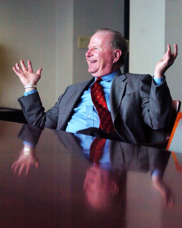 Bill Cooper, retiring as CEO of TCF Financial after 20 years at the helm of the Wayzata-based bank, speaks during an interview at bank headquarters on Dec. 5, 2005. (Pioneer Press: Chris Polydoroff)