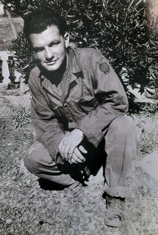 World War II veteran Jean DeCurtins, 98, pictured in Italy in 1943, is the last surviving member of the A&D Last Man's Club in Stillwater. He was among the 180 young men who joined the Minnesota National Guard's 135th Infantry and left Stillwater on Feb. 25th, 1941 -- nine months before Pearl Harbor. (Courtesy of Jean DeCurtins)
