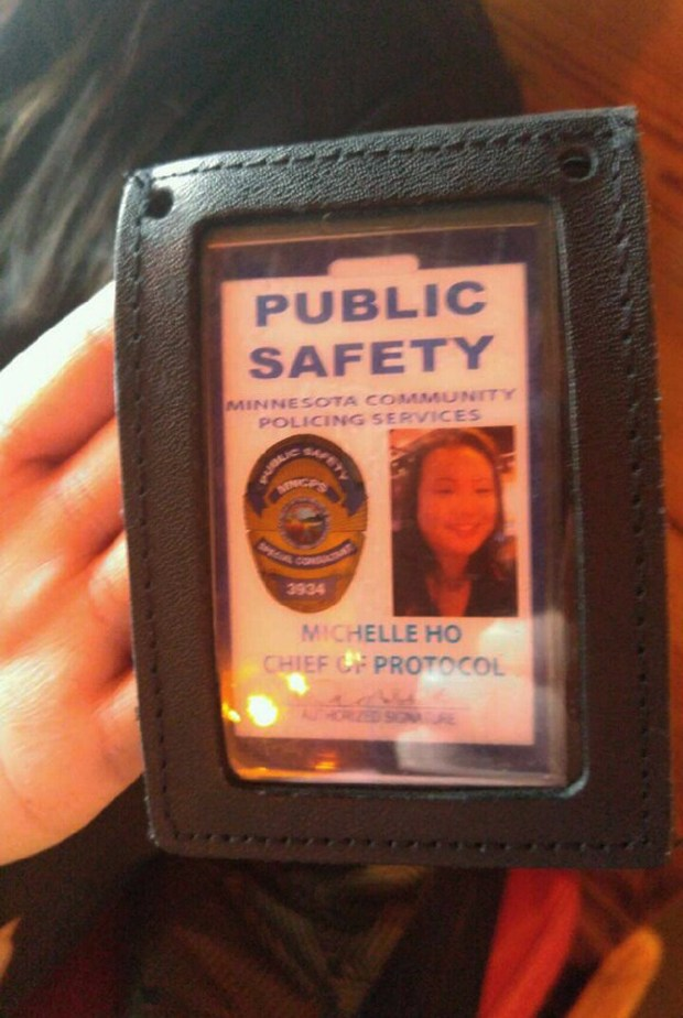 Two members of Minnesota Community Policing Services Foundation Inc. flashed ID cards, and a badge, to a manager at Joe's Crab Shack in Roseville, allegedly confusing him enough to think they might be police. No charges were brought, but the investigation led to charges in another matter. (Photo courtesy/Roseville police department)