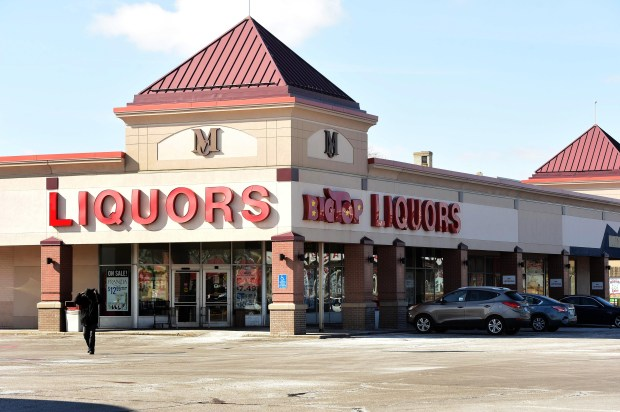 Big Top Liquors, near Snelling and University Aves. in St. Paul, is shown in a photograph taken on Thursday, March 2, 2017. There's still no firm date on when construction for the Minnesota United soccer stadium -- once slated to start last May -- might actually begin. The store is located at a shopping center entrance that would be reconfigured into a real street. (Pioneer Press: Scott Takushi)