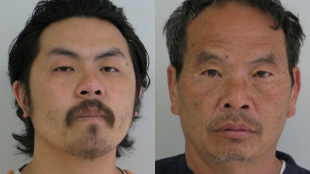 Kou Lor, 28, of St. Paul, left, and his father, Franck Lor, 56, of Brooklyn Park, have been charged after a police dog allegedly sniffed out 120 pounds of marijuana in a vehicle stopped on Interstate 94 near Alexandria, Minn., on Friday, March 24, 2017.