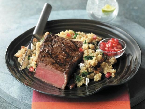 Pomegranate Steak (BeefItsWhatsForDinner.com)