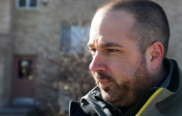 """Spencer, 44, testified on behalf of the city in an arbitration hearing involving a fellow cop fired for his role in Baker's arrest -- a controversial, videotaped incident that went national and international. """"It was very difficult because it was something I had been programmed throughout my career to never do,"""" Spencer said. (Jean Pieri / Pioneer Press)"""