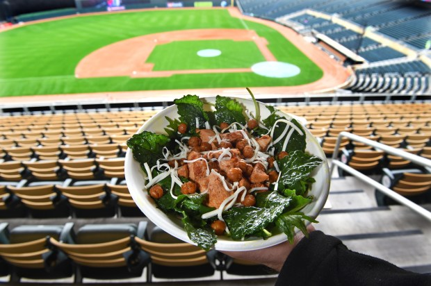 The Hot Indian Chicken Tikka Salad will be available at Target Field in Minneapolis this baseball season. On Thursday, March 30, 2017, the Minnesota Twins and Delaware North Sportservice, the teams exclusive food, beverage and retail partner, announced a variety of new menu offerings to be served at the ballpark during the 2016 season. Jean Pieri / Pioneer Press
