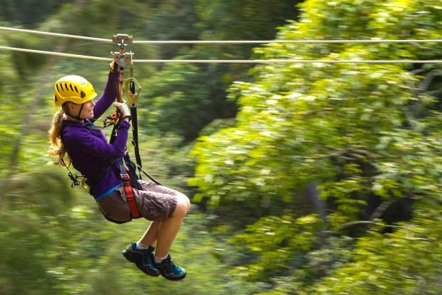 Ziplining at Kohala Zipline. (Courtesy of Kohala Zipline)