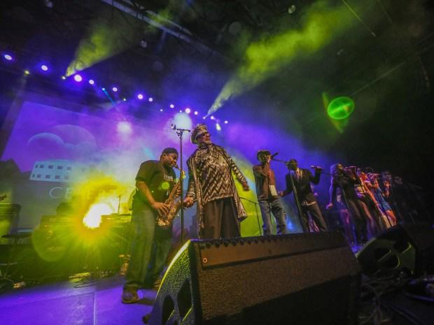 4200038 - George Clinton Parliament Funkadelic performs at Celebration 2017 at PrinceÕs Paisley Park.(Courtesy of Steve Parke / Paisley Park Studios)