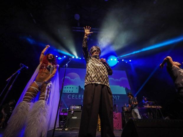 4200100 - George Clinton Parliament Funkadelic performs at Celebration 2017. (Courtesy of Steve Parke / Paisley Park Studios)