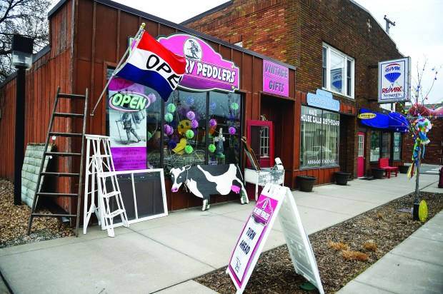 At Merry Peddlers in Lindstrom, you can find Joyful Spirit Studio jewelry as well as upcycled furniture such as dressers and tables. Shown Thursday, April 13, 2017. (Craig Lassig / Special to the Pioneer Press)