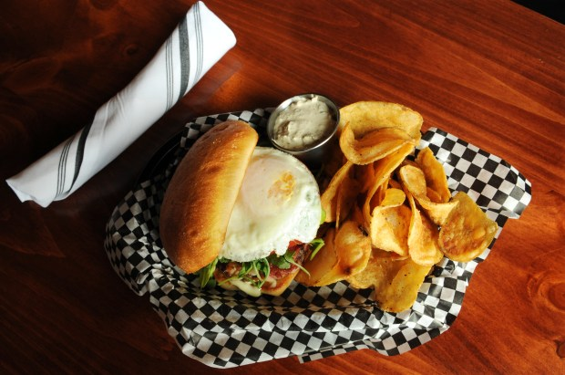 The BLT made with pulled bacon at Brunson's Pub at 956 Payne Ave. on the East Side of St. Paul. The new neighborhood pub was formerly Schwietz Saloon. (Ginger Pinson / Pioneer Press)