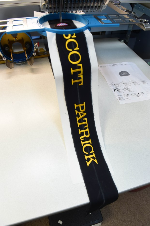An honor ribbon for fallen Mendota Heights Police Officer Scott Patrick, who was fatally shot in 2014. (Scott Takushi / Pioneer Press)
