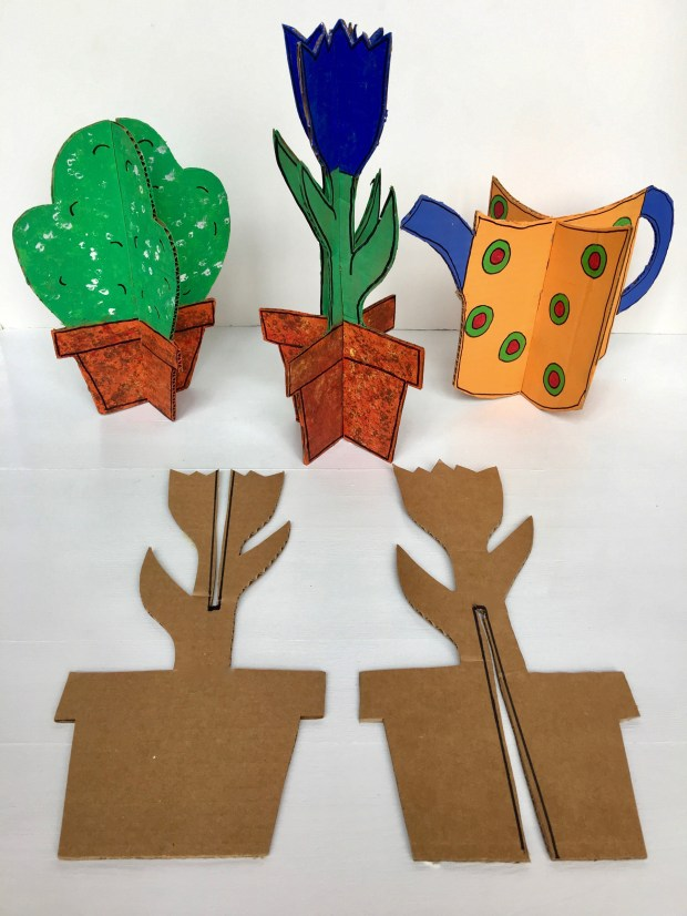 3-D cards are as easy to make as 1-2-3. (Courtesy of Donna Erickson)