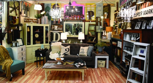Harlow's House, which offers a mix of chic women's clothing and design savvy home pieces inspired by farmhouse and industrial styles. Vintage and repurposed furniture are also part of the line up. in Buffalo on Thursday, February 2, 2016. (Special to the Pioneer Press: Craig Lassig)