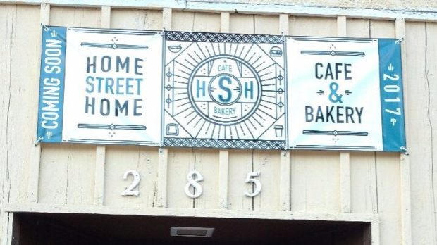 "The ""coming soon"" sign on the building on St. Paul's West Side that will soon house the Home Street Home cafe. (Destiny Buron / courtesy photo)"
