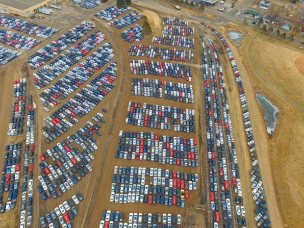The fate of thousands of recalled Volkswagens in central Minnesota is undetermined. The vehicles are being stored in Brainerd as part of a massive recall launched by Volkswagen to settle allegations that it violated the U.S. Clean Air Act, Minnesota Public Radio reported. (Photo courtesy of the Brainerd Dispatch)