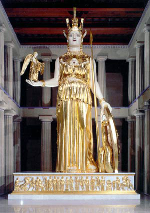 A gilded Athena at the Parthenon in Nashville, Tenn. (Courtesy of Nashville Convention & Visitors Corporation)
