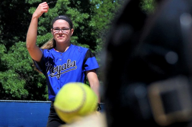 Woodbury senior pitcher Ashley Mickschl, photographed at Ojibway Park in Woodbury on Monday, June 5. 2017, is the Pioneer Press East Metro softball Player of the Year. Mickschl is 12-1 this season with a 0.70 earned run average and 110 strikeouts. She's also batting .473 with six home runs. Mickschl leads the Royals into their third consecutive state tournament appearance in North Mankato on Thursday. (Jace Frederick / Pioneer Press)