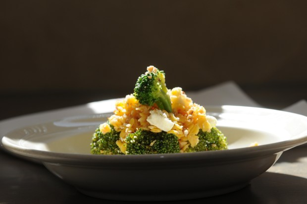 The broccoli salad at Bar Brigade in St. Paul on Tuesday June 21, 2017. (Ginger Pinson / Pioneer Press)