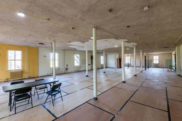 The inside of Building 18 in the Lower Post area of Fort Snelling is seen May 2, 2016. If funding for renovations is approved, the building could become the fort's new visitor center. (Pioneer Press: Andy Rathbun)