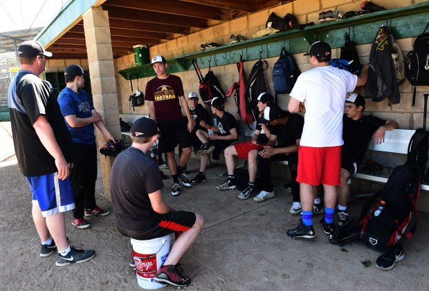 The Central High School varsity baseball team practices at Toni Stone Field, a city-owned ballfield, Wednesday, May 31, 2017. A battle is heating up between athletic officials at Central High School and the city over use of city-owned fields including Toni Stone, the jewel of all the city's ballfields. (Scott Takushi / Pioneer Press)