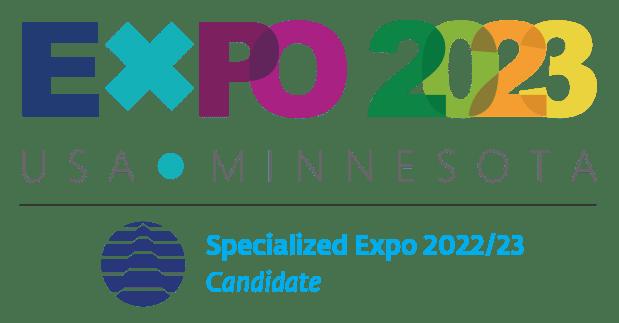The Minnesota expo's bid committee's logo.