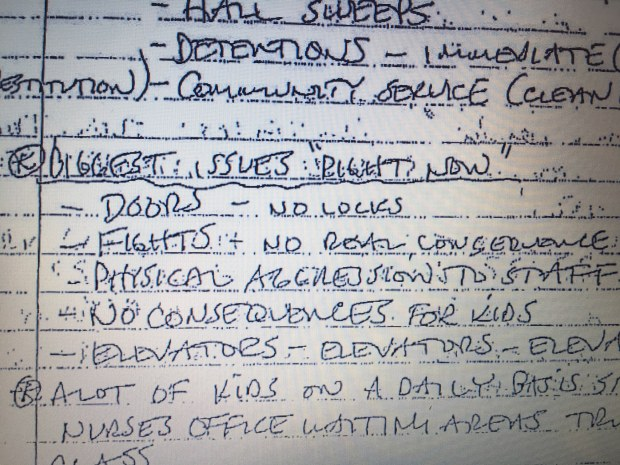 """Notes from a November 2014 safety team meeting cite student aggression against staff and a lack of consequences for fighting among Central High School's """"biggest issues."""" Assistant principal Mark Krois' notes are part of the public record in teacher John Ekblad's lawsuit against St. Paul Public Schools leaders."""