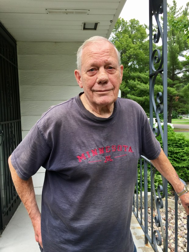 Dick McCartan attempted to rescue his neighbor John Grogan from a house fire in Maplewood on June 28. (Sarah Chavey / Pioneer Press)