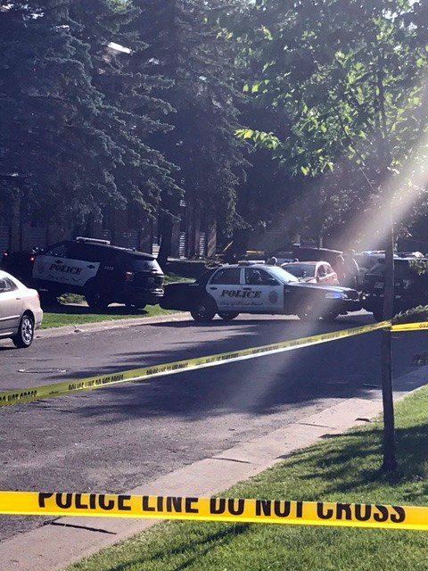 St. Paul police investigate a shooting death Friday, June 2, 2017, near Third Street East and Van Dyke Street. (Courtesy of the St. Paul Police Department)