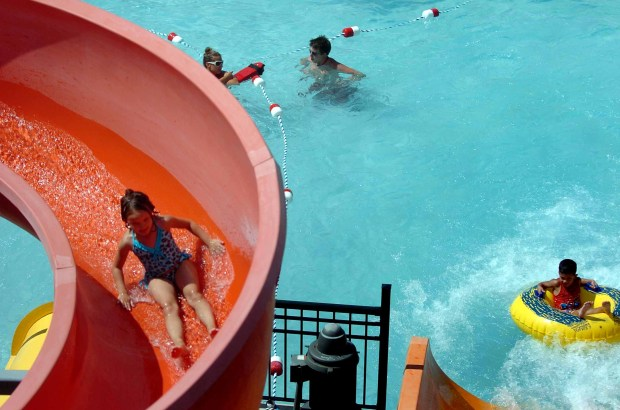 Children beat the heat and have a little summer fun at the Jim Lupient Waterpark in Minneapolis, Minn. Friday, July 11, 2008. (Brandi Jade Thomas / Pioneer Press)