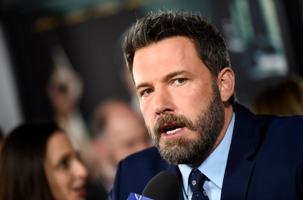 "Ben Affleck, the director, producer, writer and star of ""Live by Night,"" is interviewed at the premiere of the film at the TCL Chinese Theatre on Monday, Jan. 9, 2017 in Los Angeles. (Photo by Chris Pizzello/Invision/AP)"