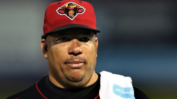 Rochester Red Wings pitcher Bartolo Colon, 44, pitched his first game in the Minnesota Twins organization Thursday, July 13, 2017. The Twins signed him to a minor-league contract in the hopes he will join the major league pitching staff for the remainder of the season. (Joe Territo / Rochester Red Wings)