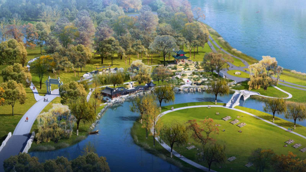Rendering of the China Friendship Garden proposed for Phalen Regional Park in St. Paul. (Courtesy of city of St. Paul)