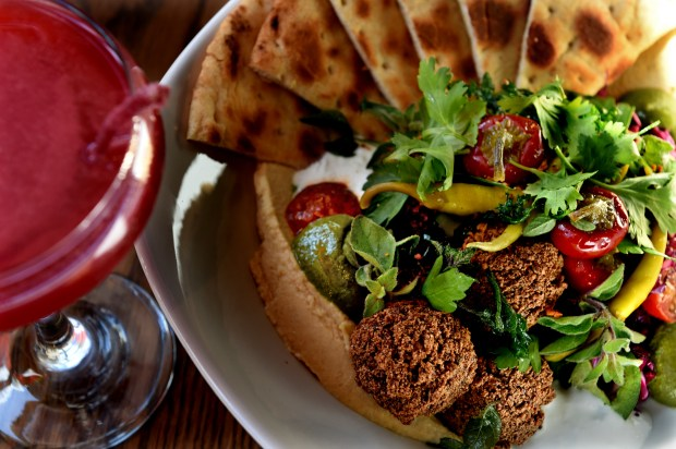 The Mediterranean bowl at the Gray Duck Tavern in St. Paul on Friday, August 4, 2017. (Jean Pieri / Pioneer Press)