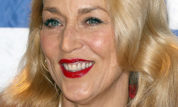 Model-actress Jerry Hall is 60. She was known for her long-term relationship with Mick Jagger, but now she's married to Rupert Murdoch, who's 86 and worth billions. (Tim P. Whitby/Getty Images)