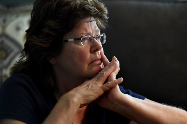 Lorie Sisterman talks Wednesday, July 19, 2017, about her brother, James Byron Haakenson, who has just been identified as a one of the victims of serial killer John Wayne Gacy. Her DNA helped identify her brother's remains. Haakenson, 16, went missing in 1976. His remains, which went unidentified for nearly 40 years, were among those of more than two dozen young men found in the crawl space of GacyÕs Chicago-area home in 1978. (Jean Pieri / Pioneer Press)