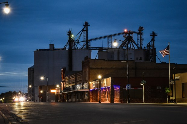 Downtown Dawson is pictured on May 19. In the November presidential election, Donald Trump had won Lac qui Parle County, where Dawson was the second-largest town, with nearly 60 percent of the vote. (Salwan Georges, Washington Post)