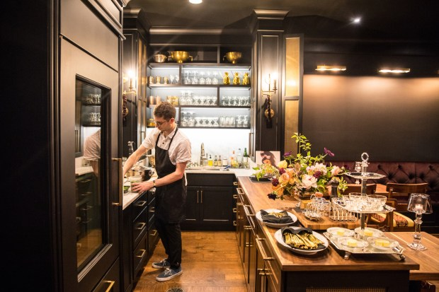 David Hoover is a first-time executive chef at Bar One Fourteen, a luxe microbar in Indianapolis. (Christina Slaton)