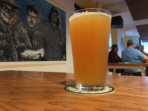 Mosaic Wheat IPA from 12welve Eyes Brewing in St. Paul. (Jess Fleming / Pioneer Press)