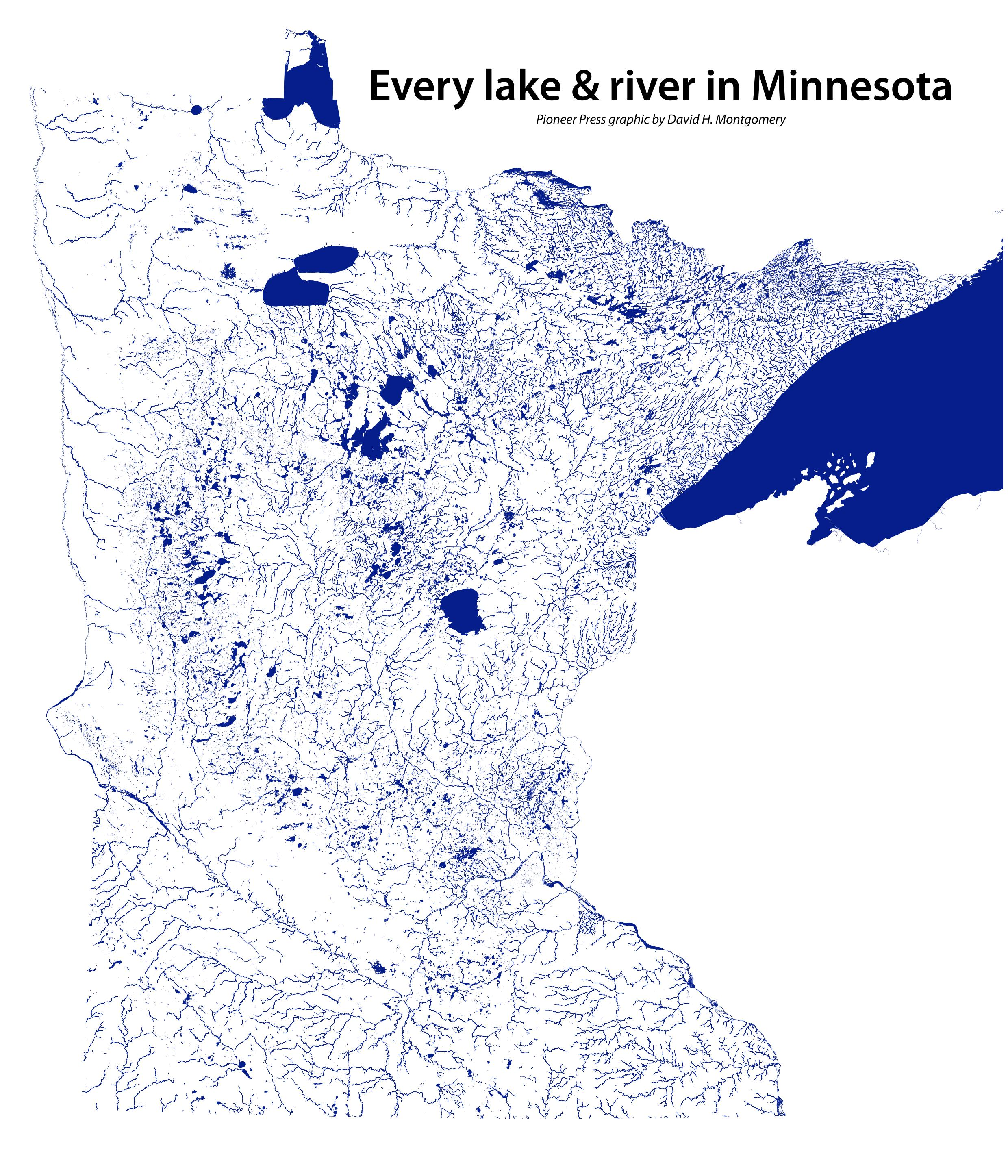 Minnesota Lakes Map Plus 9 More About Minnesota S Waters