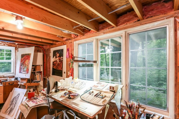 The studio at architect Ewin Lundie's former home at 1823 Mahtomedi Ave., Mahtomedi, which is for sale. (Courtesy of Keller Williams Realty)