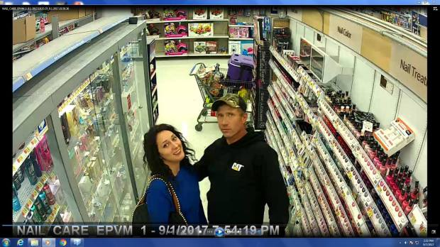 Suspects in a Detroit Lakes, Minn. theft investigation pose for security cameras inside the nail care section of a local department store. Special to Forum News Service