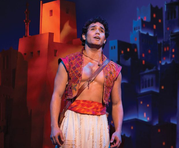 """Broadway's original """"Aladdin,"""" Adam Jacobs, also plays the role on the road, still looking for """"A Whole New World."""" (Cylla von Tiedemann/Hennepin Theatre Trust)"""
