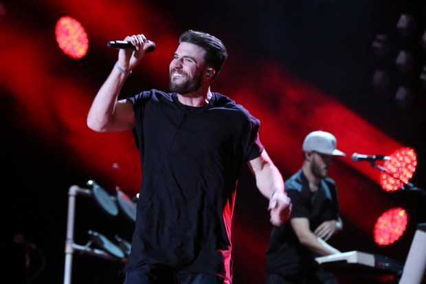 Artist Sam Hunt performs at the 2017 CMA Music Festival at Nissan Stadium on Friday, June 9, 2017 in Nashville, Tenn. (Photo by Laura Roberts/Invision/AP)