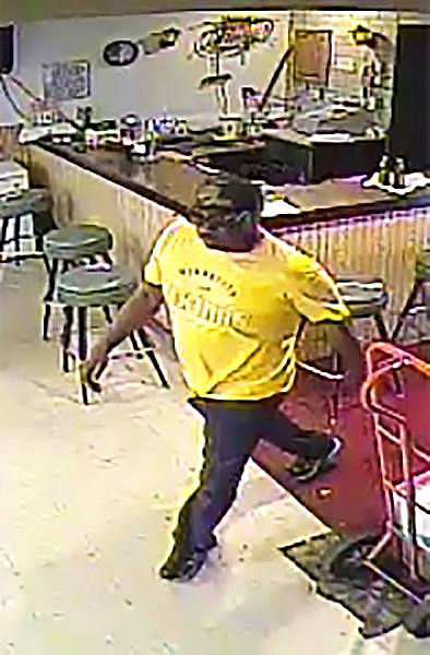 Surveillance footage at Arcade-Phalen American Legion Post 577 in St. Paul captured a man suspected of stealing more than $2,000 on Tuesday, Sept. 19, 2017. (Courtesy of Arcade-Phalen American Legion)